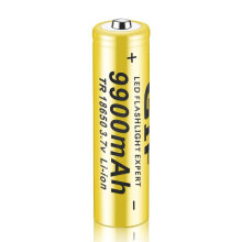 [COZIME] 1pc 3.7V 18650 9900mah Li-ion Rechargeable Battery For LED Flashlight Torch yellow