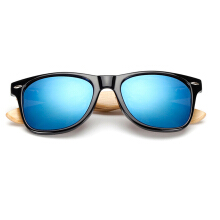 XQ-HD Unisex Bamboo Sunglasses Men Wooden Sun glasses Women Mirror Eyeglasses -