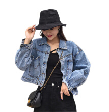 DAVID777 Denim jacket jacket female lazy spring and autumn bf short retro shirt