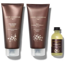 Grow Gorgeous Tough Hair Anti-Off Shampoo / Conditioner / Magical Anti-Off Herb Essence Set (190ml+190ml+60ml) Khaki