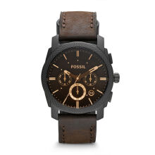 Fossil FS4656 Machine Mid Size Chronograph Brown Leather Strap Watch