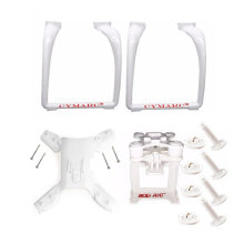 [kingstore] Drone Legs Landing Gear Gimbal Mount Parts for Hubsan H501A H501C H501S White