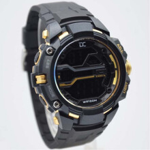 Digitec Collection DD-5008M-8780 D45H271DGMHTGLD Jam Tangan Pria Dualtime Rubber Strap - Hitam Gold Black