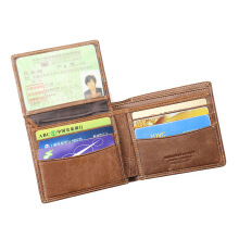 BestieLady Genuine Leather Top Flip-out Bi-fold Wallet Brown