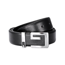SiYing Original imported fashion men's belt leather plate buckle belt