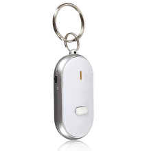 JMS - 1 Pcs Key Finder Location (Anti Lost Alarm) Whistle Sound Light Keychain Model B - White