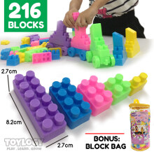 Toylogy - Mainan Edukasi Blok Susun - Building Blocks 216 Pcs Lego Compatible
