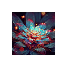 [COZIME] Flower Pattern Diamond Cross Painting Stitch 5D Embroidery Home Decoration multicolor