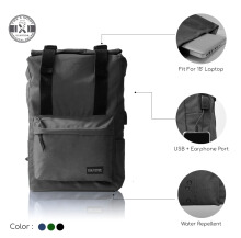 Tas ransel. USB & Earphone Port + Cable dan Water Resistant. 'Spack-FM' The X Woof