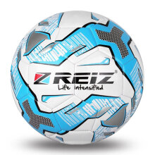 REIZ PU Football Official Size 5 Professional Ball For Outdoor Match Training blue & white