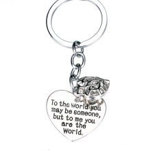 Lettering Family Keyring Simple Letter Keychain Trendy Silver totheworld