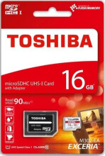 Toshiba Exceria 16GB Class 10 90MBPS dan SD Card Adapter M302