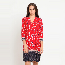 A&D Ms 1238 Floral Dress - Red