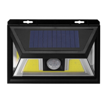 ARILUX® 10W Solar Power 66 COB LED Waterproof PIR Motion Sensor Light Outdoor Wide Angle Wall Lamp Black