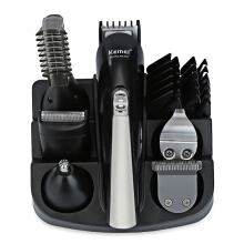 Kemei KM - 600 Professional Hair Trimmer 6 In 1 Hair Clipper Shaver Sets Electric Shaver Black