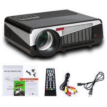 HD 1080P Media Player LCD Projector Home Theater Cinema Digital Projector Black
