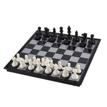 COZIME Mini-Set International Chess Black & White with Folding Chess Board 4812-B White Black
