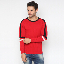 RAVE HABBIT- Rafio Knitted Red Men Sweater Red M