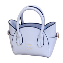 [LESHP]Lovely Cat Face Tote Handbag Women Crossbody Bag Mini Shoulder Flap Blue