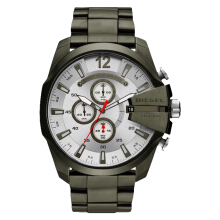 Diesel DZ4478 Mega Chief Men Silver Dial Olive Stainless Steel [DZ4478]