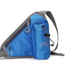 Jantens Sports pockets for men and women sports bag with bottle cage Blue