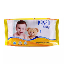 PASEO Baby Tissue Wipes Pillow Bag 10's