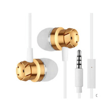 Jantens 3.5mm metal earbuds stereo subwoofer headset hands-free microphone for iPhone 6s millet mi headphones