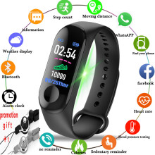 CURREN M3 Smart Wristband New with data cable charging Fitness Bracelet Bluetooth Watch For ios Android