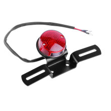 [OUTAD] Universal Red LED 12V Motorcycle Rear Tail Light Round Brake Stop Lamp Black
