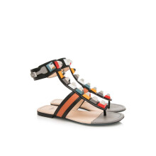 Pre-Owned Fendi Studded Gladiator Sandals