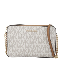 MICHAEL BY MICHAEL KORS Jet Set Item Large EW Crossbody Vanilla/Acorn [MMK01545B] Grey