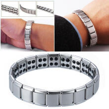 Farfi Fashion Men's Bangle Titanium Magnetic Therapy Bracelet Simple Jewelry Gift as the pictures