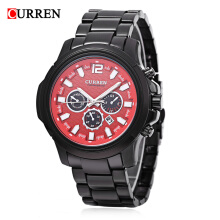 Curren 8059 Men Quartz Watch Luminous Decorative Sub-dial Date Display Wristwatch