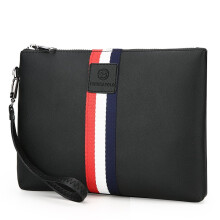 Wei's new PU waterproof men's wallet wear clutch bag business large capacity wallet fdk007 Black