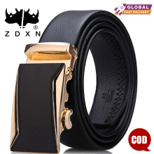 ZDXN Sifang car golden automatic buckle belt - Black(120cm)