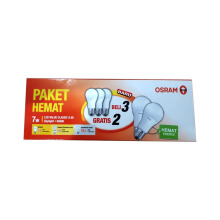 OSRAM Lampu LED Bulb 7W - Cool Day Light / Putih - 3 FREE 2