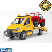 Bruder Toys 2535 - MB Sprinter Transporter With Light & Sound Module + Cross Country Vehicle