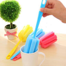 Farfi Sponge Brush Milk Bottle Cup Glass Washing Cleaning Cleaner Tool as the pictures