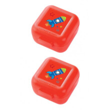 [free ongkir]Crocodile Creek Snack Keeper set of 2 - Red Rocket