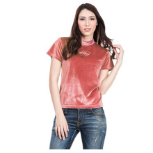 DON CLOTHING LABEL Velvet Pink Heartbeat Top - Pink [All Size]