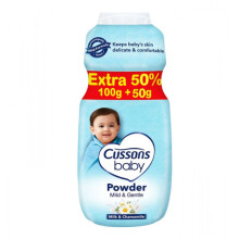 Cussons Baby Powder Mild and Gentle - 100+50gr