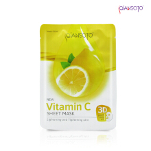 Masker Qiansoto Vitamin C Sheet Mask' Sachet ( Net 35 ml )