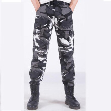 SBART Autumn Winter Men Warm Fleece Wild Cargo Pants Cotton Camouflage Outdoor Hiking Military Army Work Pants Tactical