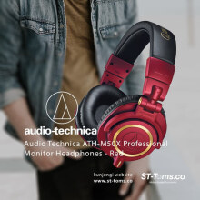 Audio Technica ATH-M50X Professional Monitor Headphones - Merah