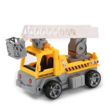COZIME 1/18 Building Blocks Engineer Ladder RC Truck Car Bricks Educational Gifts Toy Yellow