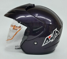 AVA Cruiser Helm Half Face - Ungu Metalik Dark Purple L