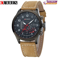 CURREN 8152 Men's Quartz Watches Top Brand Luxury Men Wristwatches  Black