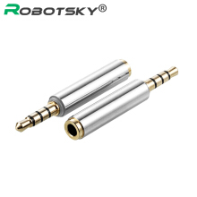 ROBOTSKY Universial 3.5mm Male to Female Audio  Earphone Jack Converter For iPhone HTC Samsung Silver