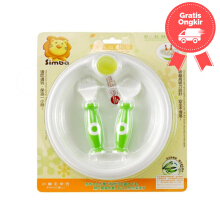 Simba Warming Plate  With Spoon & Fork Color Green