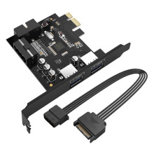 Blitzwolf Orico PVU3-2O2I-V1 2-Port USB3.0 PCI-E Expansion Card   -  -